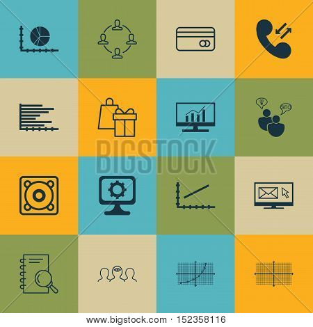 Set Of 16 Universal Editable Icons For Airport, Business Management And Human Resources Topics. Incl