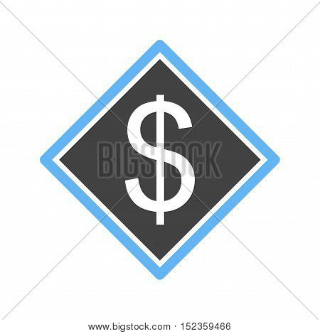 Tag, dollar, symbol icon vector image.Can also be used for currency. Suitable for use on web apps, mobile apps and print media.