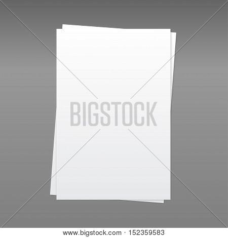Set of paper rectangle banner template for business design, infographics. Vector illustration eps10. Mock up. Mockup. Web graphic for your design. A4.