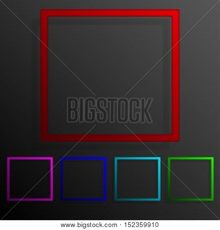 Colorful set square banners frame template for business design, infographics. Vector illustration eps10.