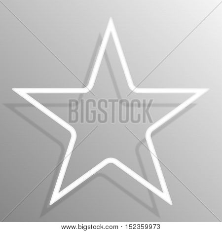 Paper star banners frame template for business design, infographics. Vector illustration eps10.