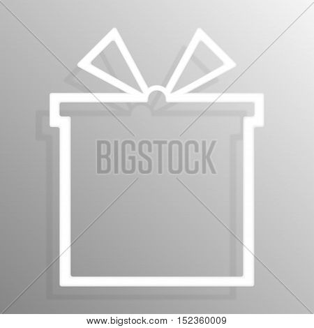 Paper gift box banners frame template for business design, infographics. Vector illustration eps10.