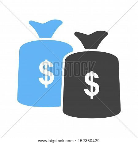 Money bag, currency, sack icon vector image. Can also be used for currency. Suitable for web apps, mobile apps and print media.