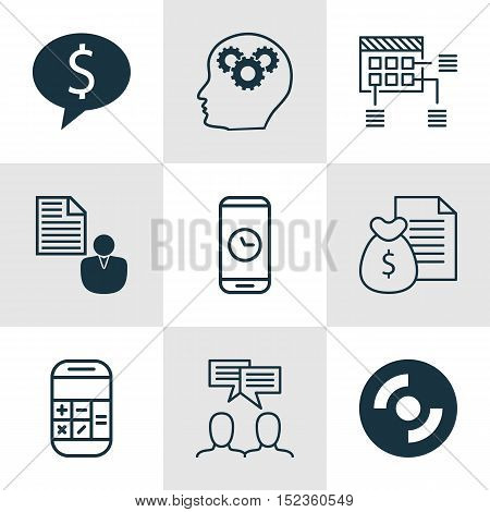 Set Of 9 Universal Editable Icons For Computer Hardware, Seo And Project Management Topics. Includes