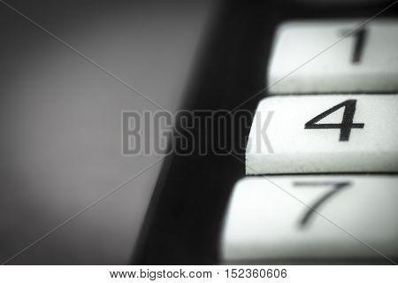 TV remote control buttons closeup. Channel change buttons.