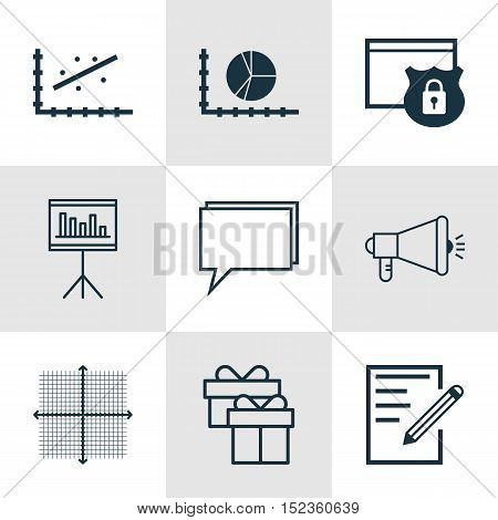 Set Of 9 Universal Editable Icons For Statistics, Airport And Seo Topics. Includes Icons Such As Ana