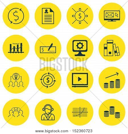 Set Of 16 Universal Editable Icons For Education, Human Resources And Project Management Topics. Inc
