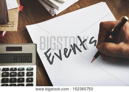 Events Make It Happen Concept