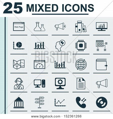 Set Of 25 Universal Editable Icons For Airport, Business Management And Education Topics. Includes I