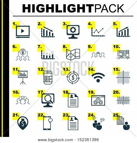 Set Of 25 Universal Editable Icons For Travel, Computer Hardware And Human Resources Topics. Include