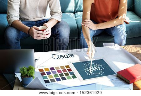 Create Inspiration Design Logo Concept