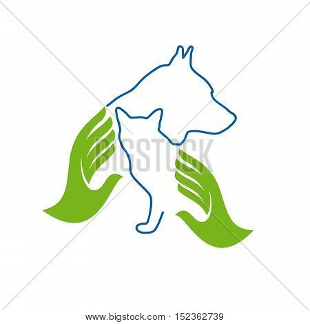Vector sign Veterinary isolated in white background