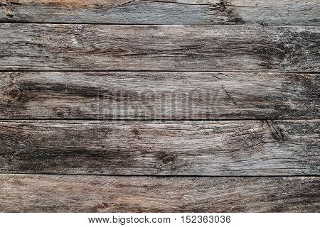 Horizontal wooden planks texture. Old rustic wood, aged table, wall, floor background