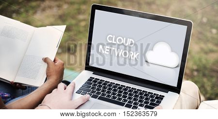 Cloud Network Data Backup Graphic Icon Concept