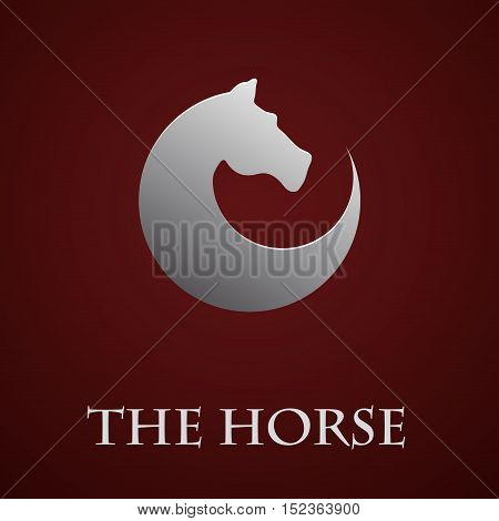 Vector sign horse in motion illustration isolated