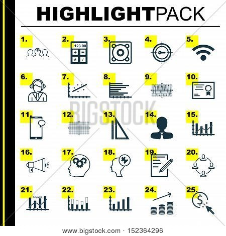 Set Of 25 Universal Editable Icons For Advertising, Airport And Education Topics. Includes Icons Suc
