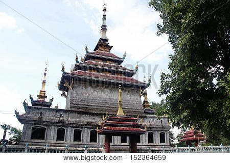 Don Chedi temple at Chainat city in Thailand,This place is public.it's old chapel where few people in country know there.