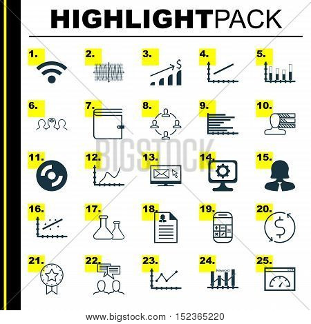 Set Of 25 Universal Editable Icons For Education, Airport And Advertising Topics. Includes Icons Suc