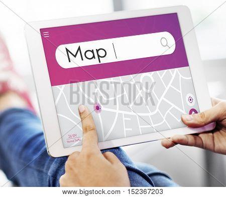 Map Navigation GPS Destination Concept