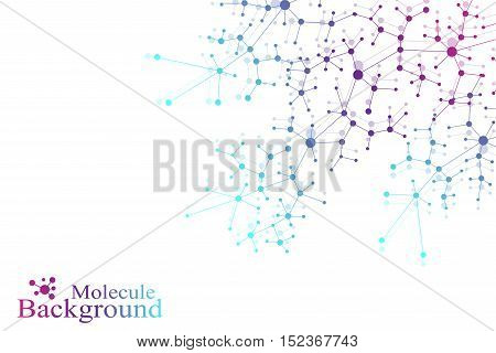Structure molecule atom dna and communication background. Concept of neurons. Scince illustration of a DNA molecule and neurons. Nervous system. Medical scientific backdrop. Vector illustration
