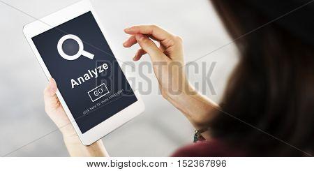 Analyze Data Strategies Website Concept