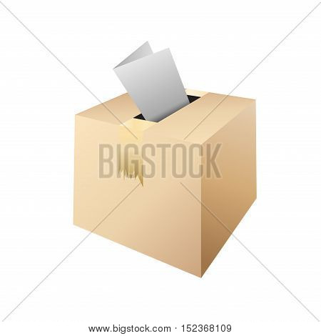 box for voteelection day illustration isolated in white