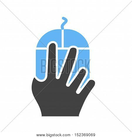Mouse, fingers, right icon vector image. Can also be used for hand actions. Suitable for mobile apps, web apps and print media.