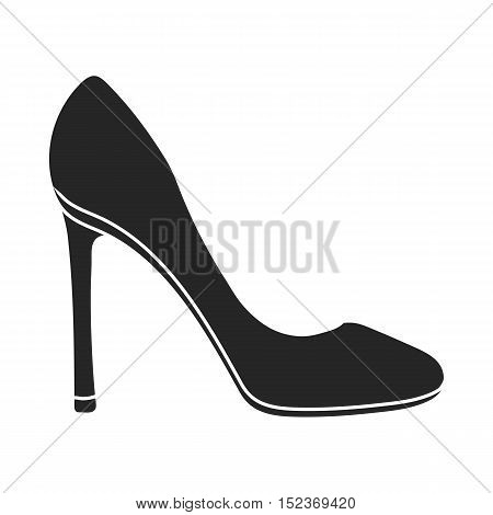 Stiletto icon in  black style isolated on white background. Shoes symbol vector illustration.
