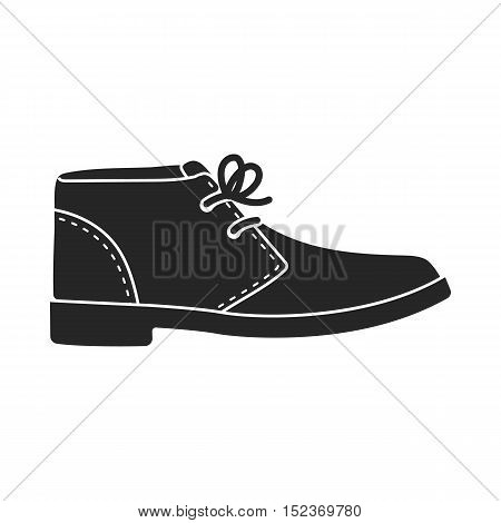 Oxfords icon in  black style isolated on white background. Shoes symbol vector illustration.