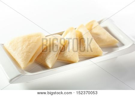 Crepes - Thin Pancake on White Plate
