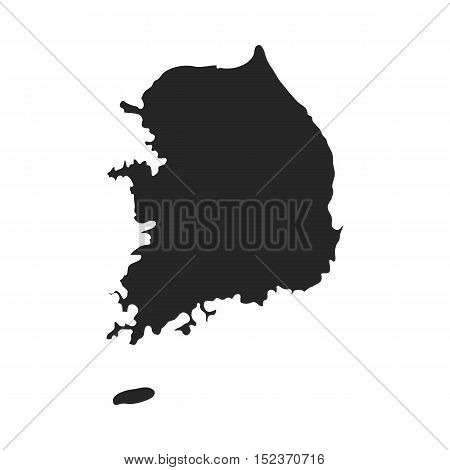 South Korea icon in  black style isolated on white background. South Korea symbol vector illustration.