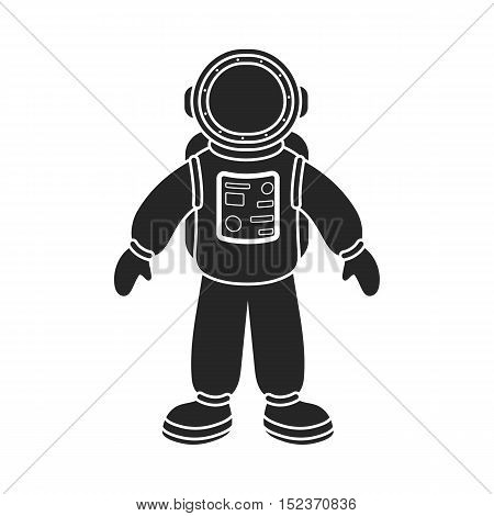 Astronaut icon in  black style isolated on white background. Space symbol vector illustration.
