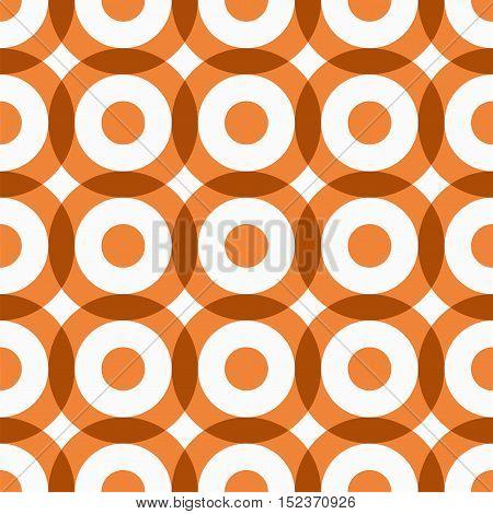 Repeating geometric circles seamless pattern. Vector illustration.