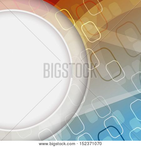Abstract vector background with a rectangular pattern and circular space for your content. Editable vector design.