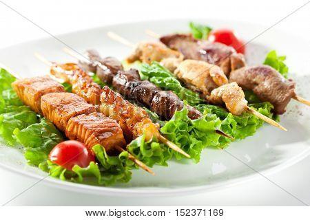 Asian Style Skewered Food