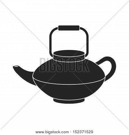 Tetsubin icon in  black style isolated on white background. Sushi symbol vector illustration.