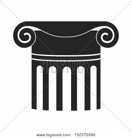 Column icon in  black style isolated on white background. Theater symbol vector illustration