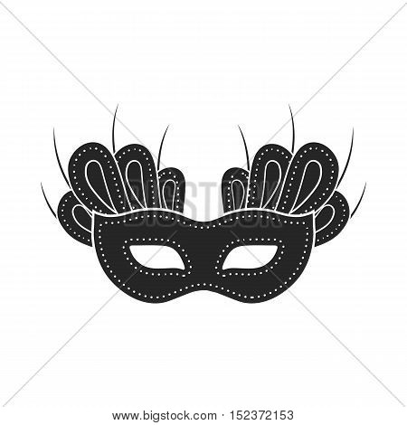 Mask icon in  black style isolated on white background. Theater symbol vector illustration