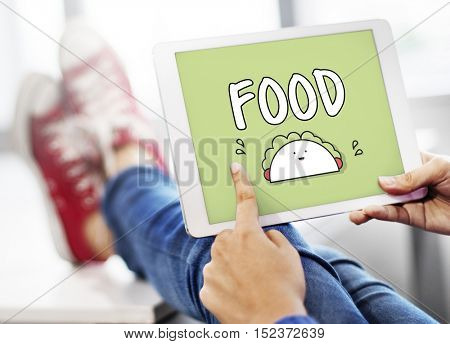 Food Gourmet Taco Graphic Concept