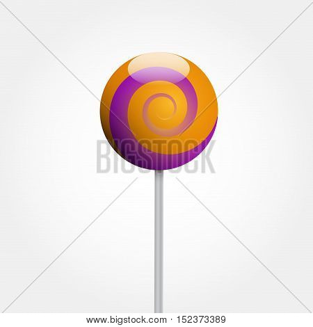 Vector colored lollipop illustration isolated in white