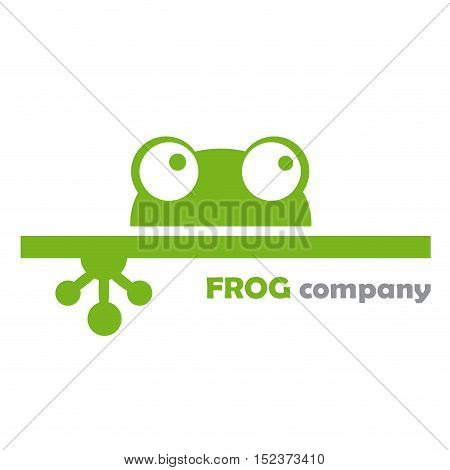 Vector sign frog company illustration isolated in white