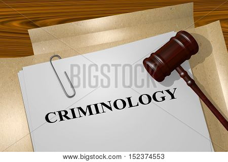 Criminology - Academic Concept