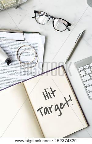 Hit Target Success Aim Mission Concept