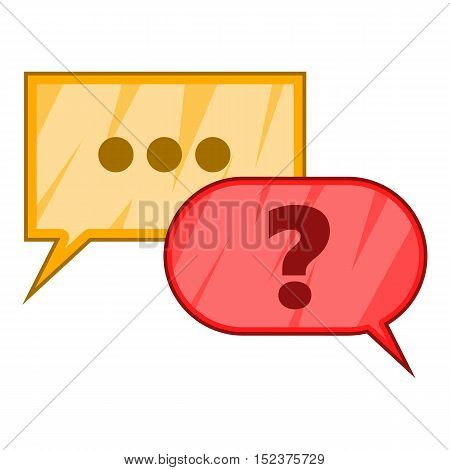 Question icon. Cartoon illustration of question vector icon for web