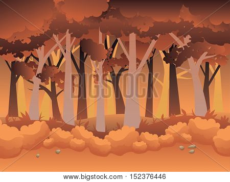 Cartoon Autumn Forest