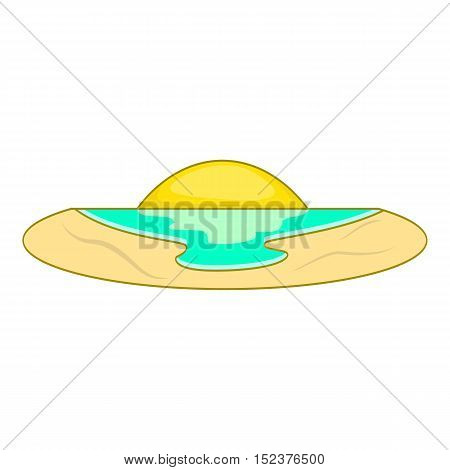 Sunset icon. Flat illustration of sunset vector icon for web