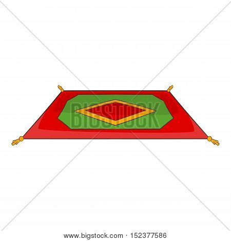 Traditional turkish carpet icon. Cartoon illustration of carpet vector icon for web design