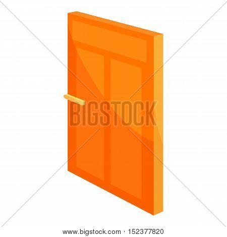 House door icon. Cartoon illustration of door vector icon for web design