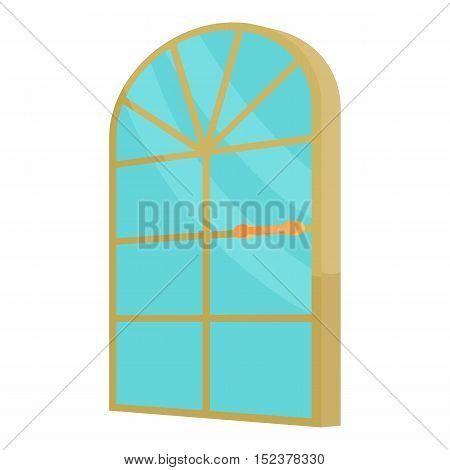 Arched glass door icon. Cartoon illustration of door vector icon for web design