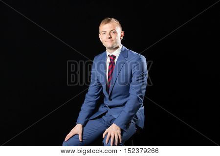 Portrait of very handsome Businessman probably the most handsome in the world